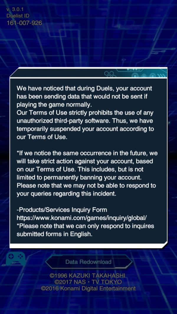 Suspended Account | YuGiOh! Duel Links - GameA